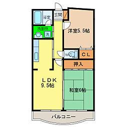 レオパレス松島[2階]の間取り