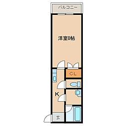 ル・マンA1番館[2階]の間取り