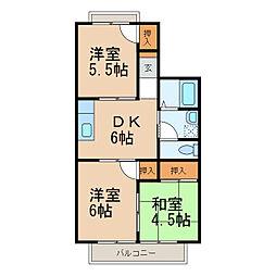 ハイツサンライトIII[1階]の間取り