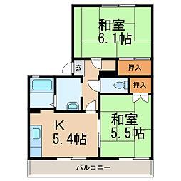 タウニィアミ[2階]の間取り