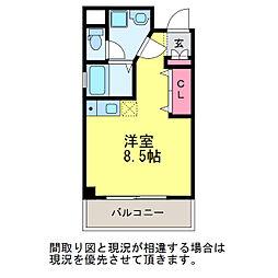 サンシャルム万代[3階]の間取り