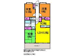 ボナール浜松EAST[3階]の間取り