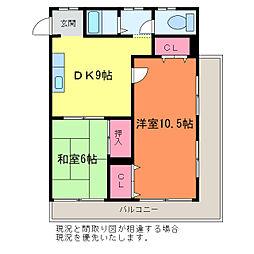 まるよし第5ビル[7階]の間取り