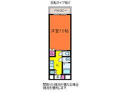 ディークレスト笹口[7階]の間取り