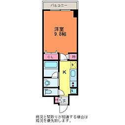 GEO万代4丁目[1階]の間取り