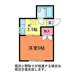 PARK BANDAI[2階]の間取り