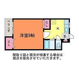 コーポラベンダー[3階]の間取り