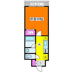 パークソレイユ3番館[6階]の間取り