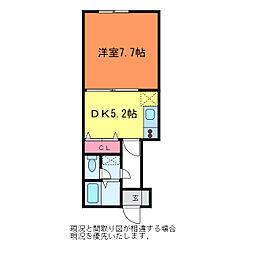 クレセントヨコイI[2階]の間取り