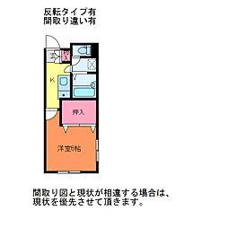アビタシオン幸[2階]の間取り