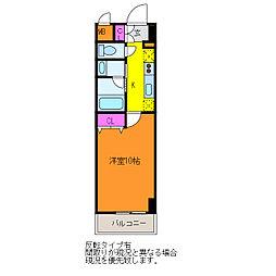 パークソレイユ新潟駅前[5階]の間取り