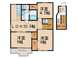 ガ-デン クレストI[2階]の間取り