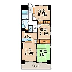 サンライズマンション岩出8[14階]の間取り