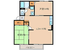 エステートプラムC棟[1階]の間取り