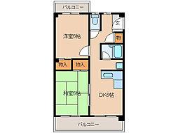 長福荘[3階]の間取り