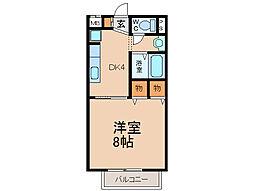 リヴェール味岡[2階]の間取り
