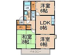 ロイヤルガーデン北屋敷[1階]の間取り