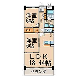 DOMUS ORYZA[1階]の間取り
