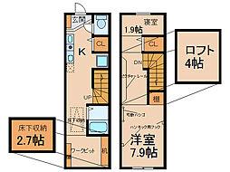 [テラスハウス] 愛知県小牧市大字北外山 の賃貸【愛知県 / 小牧市】の間取り