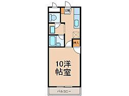 グリーンベル(間々)[3階]の間取り