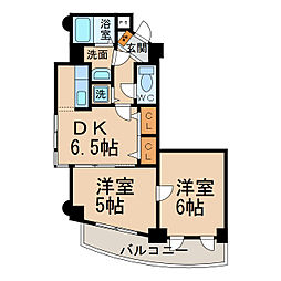ツインズK・II[2階]の間取り