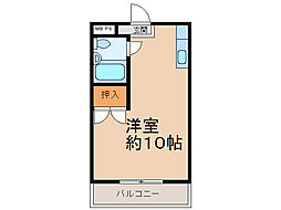 第二横井マンション[202号室]の間取り