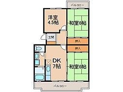 グランメール(間々本町)[4階]の間取り