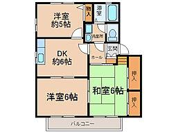 ドエル花の木[2階]の間取り
