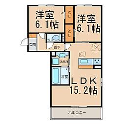 仮)舟橋様D−room(常普請)[2階]の間取り