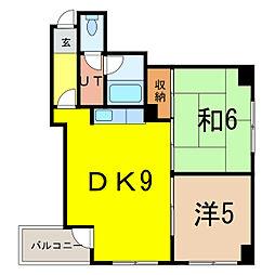 旭川2.3ビル[8階]の間取り
