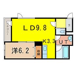 神楽4・12エコワンハウス[3階]の間取り