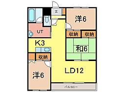フォルテ21[4階]の間取り