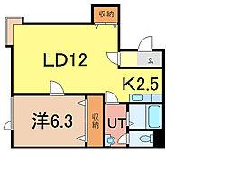 イーストヒル2[1階]の間取り