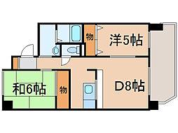 ノルテ6条通[2階]の間取り