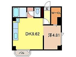 ド・フールネス716[1階]の間取り