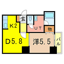 エンドレス55[3階]の間取り