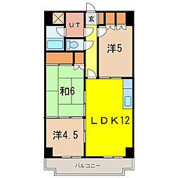 北海道旭川市五条通9丁目の賃貸マンションの間取り