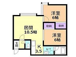 アビタシオン旭川[2階]の間取り