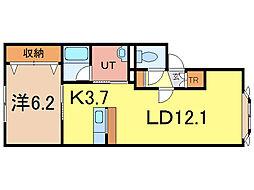 エステート237[1階]の間取り