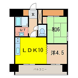 エンドレス519[10階]の間取り