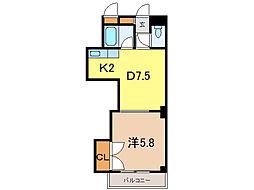 ラメール旭川[3階]の間取り
