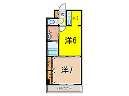 ノルテ6条弐番館[2階]の間取り