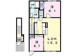 レガーレII[2階]の間取り