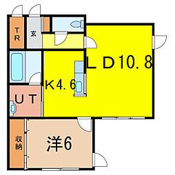 エトワール東光[2階]の間取り