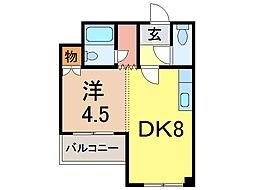 ドアージ3条A館[4階]の間取り
