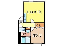 ロシェル2[1階]の間取り