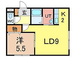オブジェ5・4[2階]の間取り