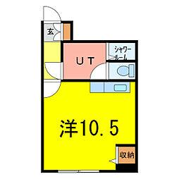 セクション103[8階]の間取り