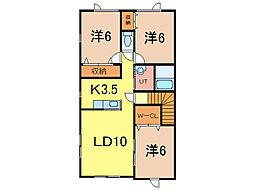 ステラ52[2階]の間取り