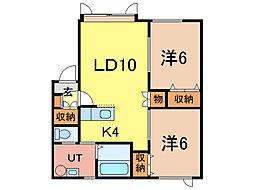 アルト10[1階]の間取り